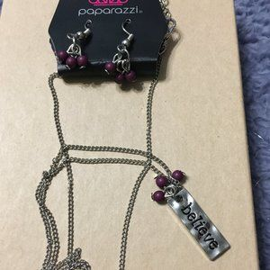 *3 for $10* Paparazzi Dainty Purple Necklace Set